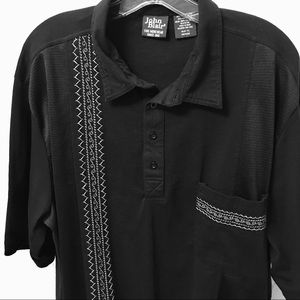 John Blair Retro Rockabilly Black Shirt XXL Tall